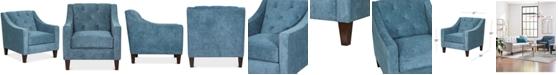 """Furniture Chloe II 31"""" Fabric Chair"""