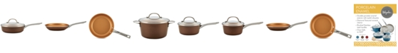 Ayesha Curry 12-Pc. Porcelain Enamel Non-Stick Cookware Set