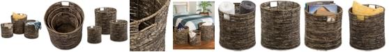 Honey Can Do Coastal Collection 3-Pc. Nesting Storage Bin Set
