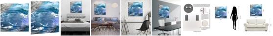 "Empire Art Direct 'Glistening Tide B' Frameless Free Floating Tempered Art Glass Wall Art - 38"" x 38''"
