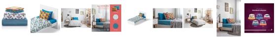 Chital Airplane Print Double-Brushed Microfiber 4 Piece Full Sheet Set
