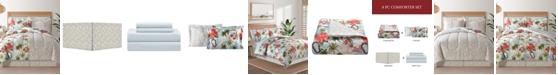 Sunham Fairfield Square Hawaii Multi 8Pc Queen Comforter Set