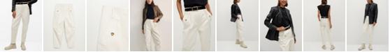 MANGO Women's Slouchy Cotton Trousers