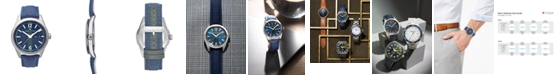 Hamilton LIMITED EDITION Men's Swiss Broadway Blue Fabric Strap Watch 40mm, Created for Macy's - A Limited Edition