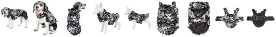 Pet Life Central Pet Life Luxe 'Paw Dropping' Gray Scale Tiger Pattern Faux Fur Dog Coat Jacket