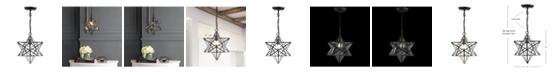 JONATHAN Y Stella Moravian Star Metal/Glass LED Pendant