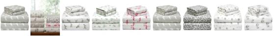 Pointehaven Printed Flannel Cal King Sheet Set