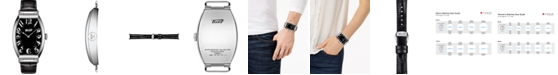Tissot Unisex Swiss Heritage Porto Black Leather Strap Watch 42mm