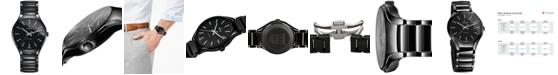 Rado Men's Swiss Automatic True Black High-Tech Ceramic Bracelet Watch 40mm R27056152