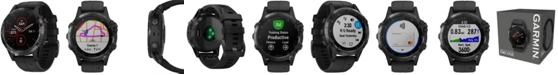 Garmin Unisex fenix® 5 Plus Black Silicone Strap Smart Watch 47mm