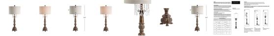 JONATHAN Y Carlisle Resin, Acrylic Led Table Lamp