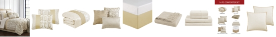 Hallmart Collectibles Hedron 14-Pc. Queen Comforter Set