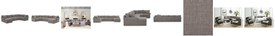 Furniture Wedport 4-Pc. Fabric Modular Chaise Sectional Sofa with Wedge Corner Piece, Created for Macy's
