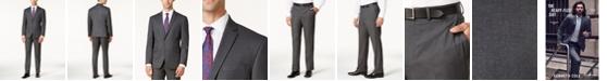 Kenneth Cole Reaction Men's Ready Flex Slim-Fit Medium-Gray Tonal Suit