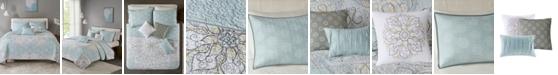 Madison Park Lucinda 6-Pc. Full/Queen Reversible Cotton Sateen Coverlet Set