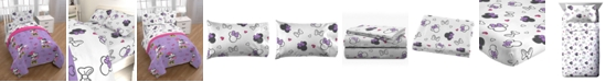 Disney Minnie Mouse Purple Love Full 5-Pc. Bed in a Bag