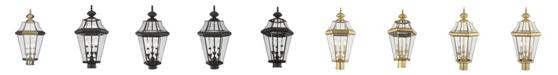 Livex CLOSEOUT!   Georgetown 3-Light Outdoor Post Lantern