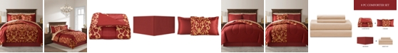Fairfield Square Collection Palace Red Twin 6-Pc. Comforter Set