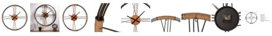 Glitzhome Farmhouse Metal Wall Clock