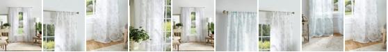 """Martha Stewart Collection Martha Stewart Bellefield Floral Sheer 50"""" x 84"""" Curtain Set"""