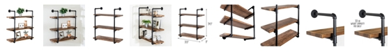 Honey Can Do 3-Tier Black Industrial Wall Shelf