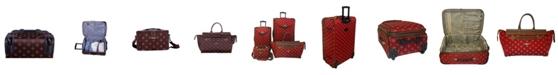 American Flyer Fleur De Lis 4 Piece Luggage Set