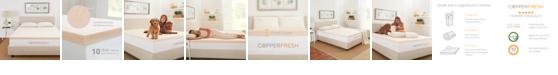 "Authentic Comfort CopperFresh Full 3"" Gel Memory Foam Mattress Topper"