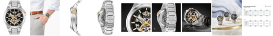 Bulova Men's Automatic Maquina Stainless Steel Bracelet Watch 46mm