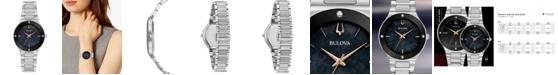 Bulova Women's Futuro Diamond-Accent Stainless Steel Bracelet Watch 32mm