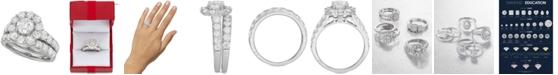 Marchesa Certified Diamond Bridal Set (4 ct. t.w.) in 18k White Gold