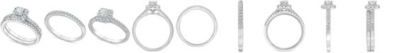 Macy's Diamond Square Halo Bridal Set (3/4 ct. t.w.) in 14k White Gold