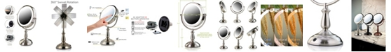"""OVENTE 7.5"""" Lighted Tabletop Mirror, Smarttouch Cool"""