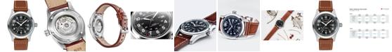 Hamilton Men's Swiss Automatic Khaki Field Brown Leather Strap Watch 42mm H70555533