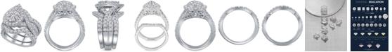 Macy's 3-Pc. Diamond Pear Cluster Bridal Set (2 ct. t.w.) in 14k White Gold