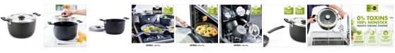 GreenPan Levels 6-Qt. Stackable Ceramic Nonstick Stockpot with Straining Lid