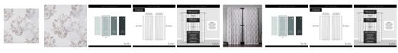 "Exclusive Home Nicole Miller Tabitha Damask Print Cotton Hidden Tab Top 50"" X 84"" Curtain Panel Pair"