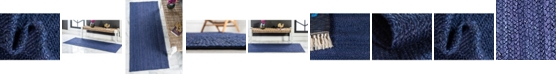 Bridgeport Home Braided Jute B Bjb5 Navy Blue Area Rug Collection