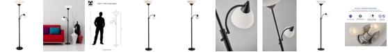 Adesso Piedmont Black Torchiere Floor Lamp