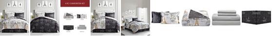 Fairfield Square Collection Paris Gold 8-Pc. Reversible Comforter Sets