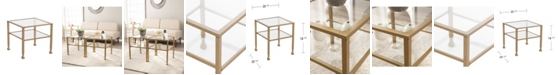 Southern Enterprises Brookford Gold Metal and Glass Bunching Cocktail Table