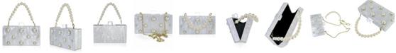 Milanblocks Embellished Acrylic Clutch with Top Handle