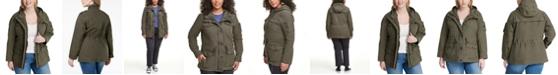 Levi's Trendy Plus Size  Cotton Hood Utility Jacket