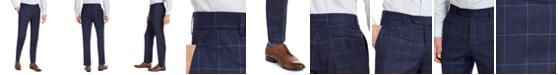 Tommy Hilfiger Men's Modern Fit TH Flex Stretch Navy Blue Windowpane Suit Pants