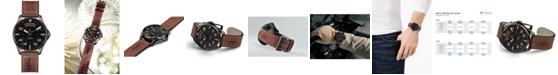 Hamilton Men's Swiss Automatic Khaki Pilot Brown Leather Strap Watch 42mm