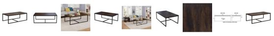 "Alaterre Furniture Arcadia Acacia Wood 54"" Coffee Table"