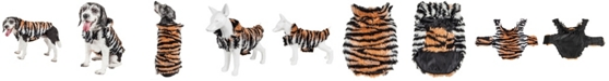 Pet Life Central Pet Life Luxe 'Tigerbone' Glamourous Tiger Patterned Faux Fur Dog Coat Jacket