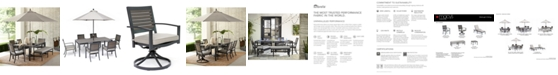 Furniture Marlough II Outdoor Dining Collection, with Sunbrella® Cushions, Created for Macy's