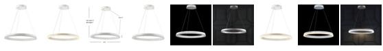 JONATHAN Y Baxter Integrated Led Metal Hoop Pendant