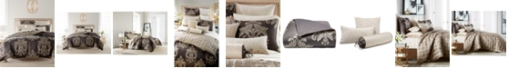 Hotel Collection CLOSEOUT! Classic Flourish Damask Jacquard Bedding Collection, Created for Macy's