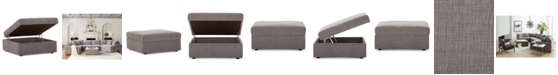 """Furniture Wedport 36"""" Fabric Storage Ottoman, Created for Macy's"""